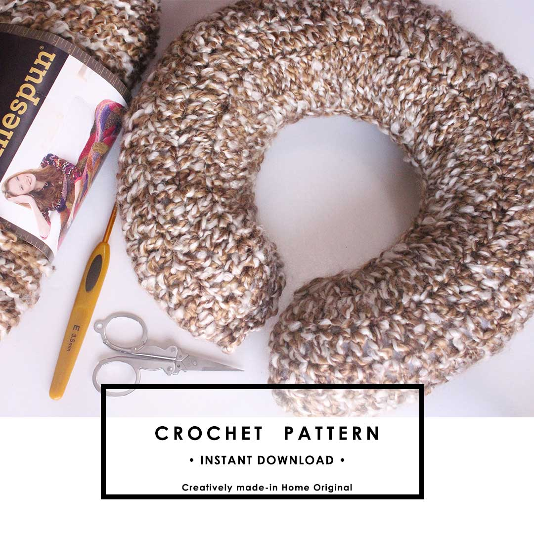 crochet travel pillow