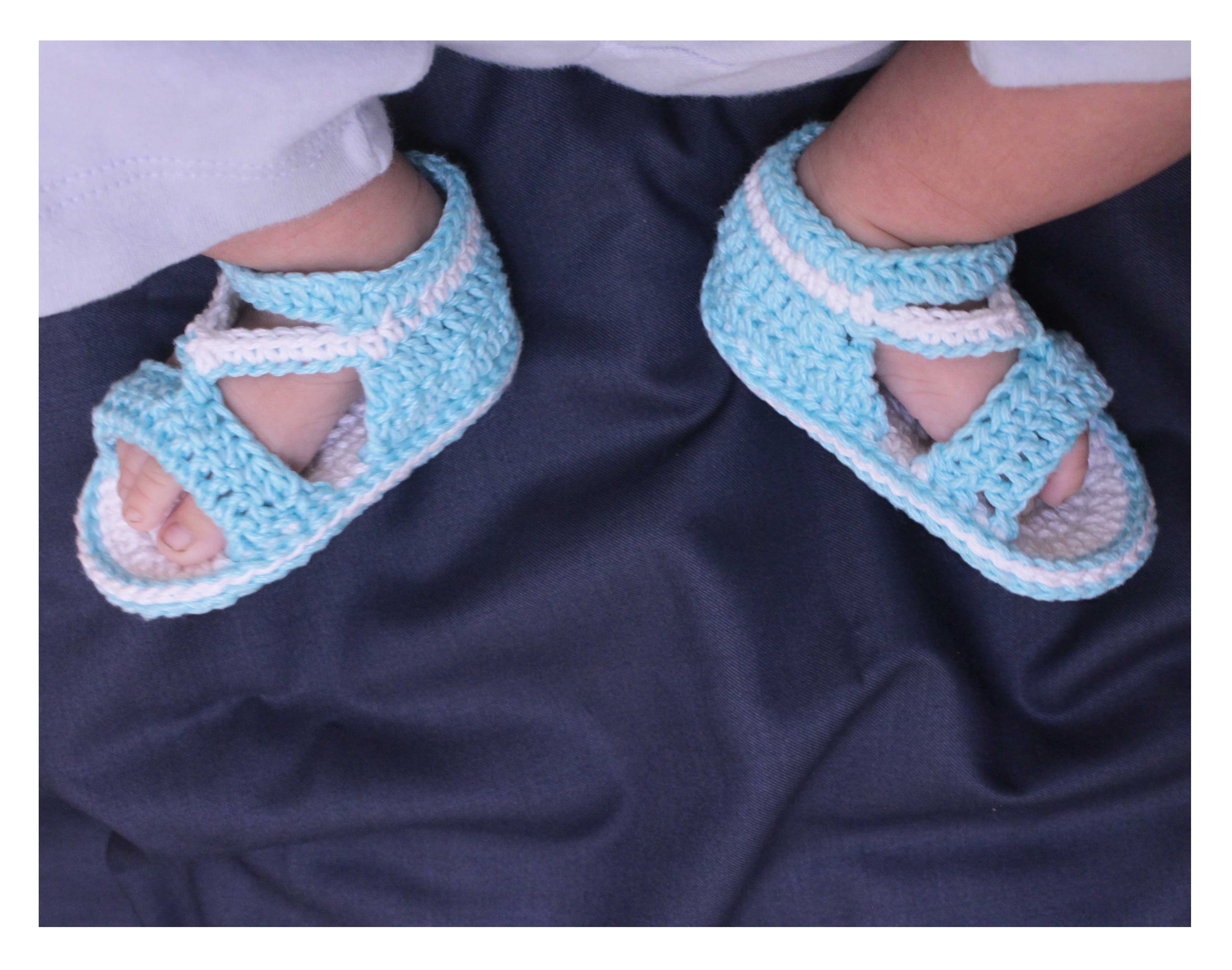 cotton baby sandal