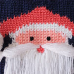 Beautiful-Knit-like-Crochet-wall-hanging-with-Santa-Face-03