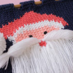 Beautiful-Knit-like-Crochet-wall-hanging-with-Santa-Face-04