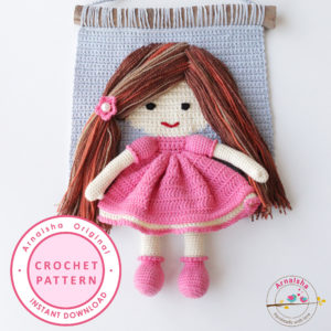 Arnaisha doll crochet wall hanging