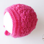 Shell Newborn Baby Bonnet crochet pattern-03