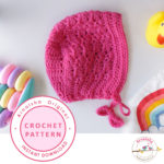 Shell Newborn Baby Bonnet crochet pattern